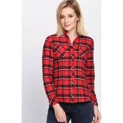Czerwona Koszula The Skies. Zielone koszule damskie w kratkę marki Mohito, l, z wykładanym kołnierzem. Za 59,99 zł.