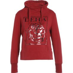 Bluzy rozpinane damskie: Deha WRAP HIGH NECK Bluza dark red