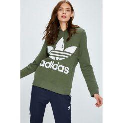 Adidas Originals - Bluza. Szare bluzy rozpinane damskie adidas Originals, m, z nadrukiem, z bawełny, bez kaptura. W wyprzedaży za 219,90 zł.