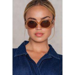 Okulary przeciwsłoneczne damskie aviatory: NA-KD Accessories Owalne okulary przeciwsłoneczne – Multicolor,Nude