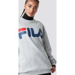 FILA Bluza Classic Logo - Grey. Szare bluzy rozpinane damskie Fila, s, z długim rękawem, długie. Za 202,95 zł.