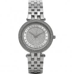 """Zegarek kwarcowy """"Mini Darci"""" w kolorze srebrnym. Szare, analogowe zegarki damskie marki Michael Kors, srebrne. W wyprzedaży za 627,95 zł."""