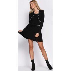 Czarna Sukienka Basis. Czarne sukienki hiszpanki Born2be, l, mini. Za 49,99 zł.