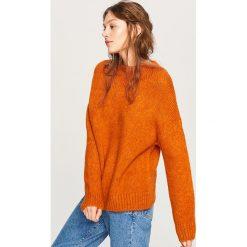 Miękki sweter z półgolfem - Pomarańczo. Szare swetry klasyczne damskie marki DOMYOS, z bawełny. Za 119,99 zł.