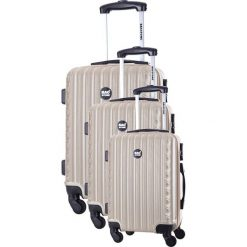 Walizki: Zestaw walizek w kolorze beżowym – 3 szt.