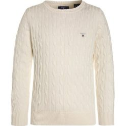 Swetry chłopięce: GANT CABLE CREW Sweter cream