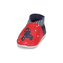 Kapcie niemowlęce Dziecko  Robeez  PLANET TRAVEL. Czerwone kapcie chłopięce Robeez. Za 111,20 zł.