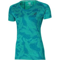 Asics Koszulka Asics FujiTrail Graphic SS zielona r. M (125150 0124). Zielone topy sportowe damskie Asics, m. Za 90,00 zł.