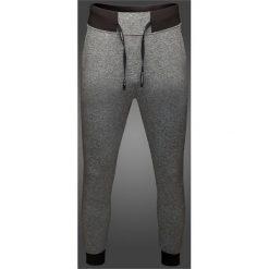 Spodnie dresowe męskie: Spodnie dresowe męskie Maciek Kot Collection SPMD500 – szary melanż