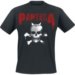 Pantera Horned Skull Stencil T-Shirt czarny. Czarne t-shirty męskie Pantera, l, z motywem zwierzęcym. Za 54,90 zł.