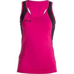Topy sportowe damskie: Top w kolorze różowo-czarnym