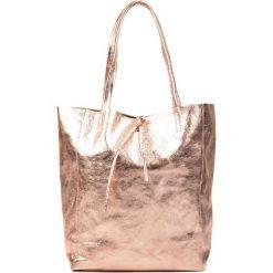 Torebki klasyczne damskie: Skórzana torebka w kolorze różowym – (S)37 x (W)41 x (G)12 cm