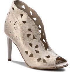Szpilki CARINII - B3990 F76-000-000-B16. Żółte buty zimowe damskie Carinii, z materiału. W wyprzedaży za 249,00 zł.