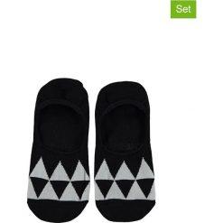 Skarpetki męskie: Skarpetki-stopki (3 pary) w kolorze czarno-białym