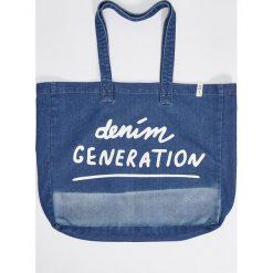 Torebki i plecaki damskie: Jeansowa torba xl – Niebieski