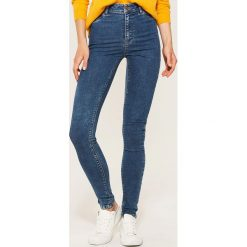 Jeansy high waist skinny - Turkusowy. Niebieskie jeansy damskie skinny marki House, z podwyższonym stanem. Za 79,99 zł.