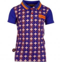 """Koszulka polo """"Welcome To The Ball"""" w kolorze oliwkowo-niebieskim ze wzorem. Niebieskie t-shirty chłopięce marki 4FunkyFlavours Kids. W wyprzedaży za 82,95 zł."""