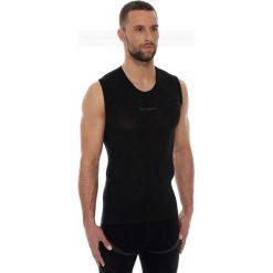 Koszulki sportowe męskie: Brubeck Koszulka męska base layer bez rękawów czarna r. L (SL10100)