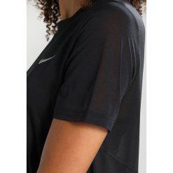 Nike Performance DRY MILER RUNNING Tshirt basic black. Czarne topy sportowe damskie Nike Performance, xs, z materiału. Za 139,00 zł.
