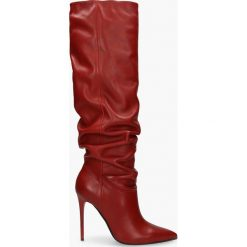 Kozaki czerwone Jazmin. Czerwone buty zimowe damskie Badura. Za 549,99 zł.