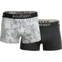 Bokserki męskie BIM600 - jasny szary+czarny - Outhorn. Czarne bokserki męskie Outhorn, z bawełny. Za 39,99 zł.