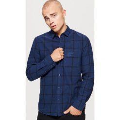 Koszula w kratę - Granatowy. Niebieskie koszule męskie na spinki Cropp, l. Za 79,99 zł.