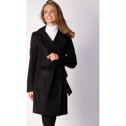 Płaszcz w kolorze czarnym. Zielone płaszcze damskie wełniane marki Last Past Now, xs, w paski. W wyprzedaży za 279,95 zł.