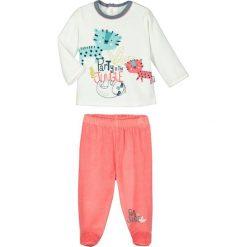 Spodnie niemowlęce: 2-częściowy zestaw w kolorze brzoskwiniowo-białym