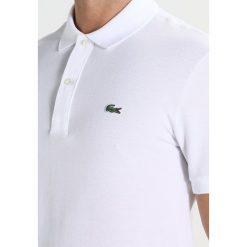 Lacoste SHORTSLEEVE SLIM FIT Koszulka polo white. Białe koszulki polo Lacoste, m, z bawełny. Za 399,00 zł.
