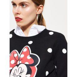 Bluzy damskie: Bluza z nadrukiem minnie mouse - Czarny