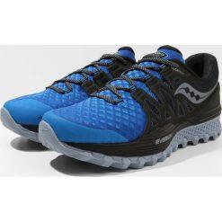 Saucony XODUS ISO 2  Obuwie do biegania Szlak blue/black. Niebieskie buty do biegania męskie Saucony, z materiału. W wyprzedaży za 395,85 zł.
