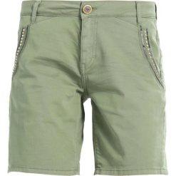 Mos Mosh ETTA SHINE  Szorty green. Zielone szorty damskie Mos Mosh, z bawełny. Za 429,00 zł.