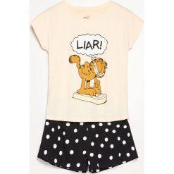 Dwuczęściowa piżama Garfield - Beżowy. Brązowe piżamy damskie marki Reserved, m. Za 59,99 zł.
