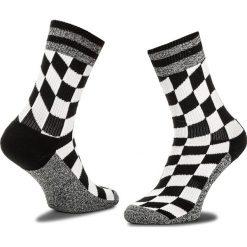 Skarpety Wysokie Unisex HAPPY SOCKS - ATFLG27-9000 Biały Czarny. Białe skarpetki męskie marki Happy Socks, z bawełny. Za 47,90 zł.