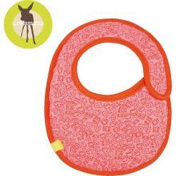 Lassig Śliniak bawełniany wodoodporny Little Monster koral - LTEXBS192. Różowe śliniaki Lässig, z bawełny. Za 31,99 zł.