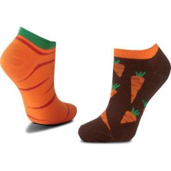 Skarpety Niskie Unisex MANY MORNINGS - Garden Carrot  Brązowy Pomarańczowy. Czerwone skarpetki męskie marki Happy Socks, z bawełny. Za 19,00 zł.