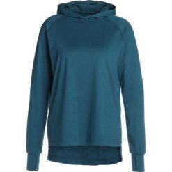 ASICS THERMOPOLIS HOODIE&SULPHUR  Koszulka sportowa blue steel heather. Niebieskie t-shirty damskie marki Asics, m, z elastanu. W wyprzedaży za 199,20 zł.