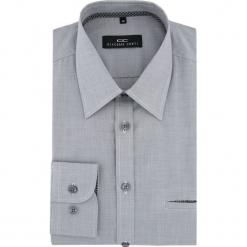 Koszula MARCO 16-04-08-K. Szare koszule męskie na spinki Giacomo Conti, m, z bawełny, z klasycznym kołnierzykiem. Za 169,00 zł.