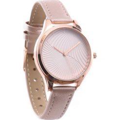 Beżowy Zegarek Accepted. Brązowe zegarki damskie Born2be. Za 24,99 zł.