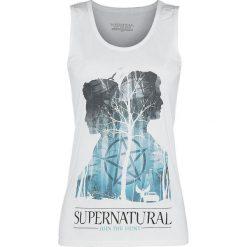 Topy damskie: Supernatural Sam & Dean Silhouettes Top damski biały