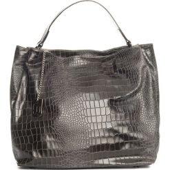 Torebki klasyczne damskie: Skórzana torebka w kolorze antracytowym – 50 x 28 x 15 cm
