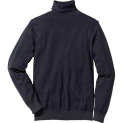 Sweter z golfem Regular Fit bonprix czarny. Czarne golfy męskie marki bonprix, l, z dzianiny. Za 79,99 zł.