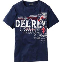 T-shirty męskie z nadrukiem: T-shirt Regular Fit bonprix ciemnoniebieski