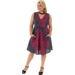 Odzież damska: Sukienka w kolorze antracytowo-różowym