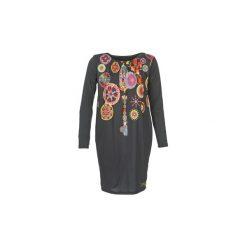 Sukienki krótkie Desigual  AXIMUE. Sukienki małe czarne marki Desigual, xs, z krótkim rękawem. Za 169,95 zł.