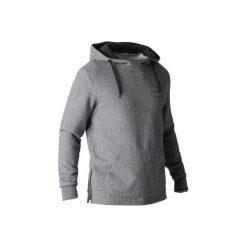 Bluza z kapturem Gym & Pilates 900 męska. Szare bluzy męskie rozpinane DOMYOS, m, z bawełny, z kapturem. Za 64,99 zł.