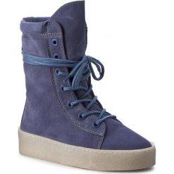 Botki BRONX - 46961-A BX 1418 Jeans Blue 2004. Niebieskie botki damskie skórzane marki Bronx. W wyprzedaży za 319,00 zł.