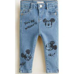 Odzież dziecięca: Mango Kids - Jeansy dziecięce Mickey 80-104 cm