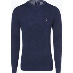 Gant - Sweter męski, niebieski. Niebieskie swetry klasyczne męskie GANT, l, z dzianiny, z klasycznym kołnierzykiem. Za 579,95 zł.