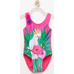 Stroje jednoczęściowe dziewczęce: Jednoczęściowy strój kąpielowy - Różowy
